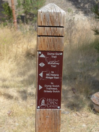 Mountain bike trails in Helena Montana US