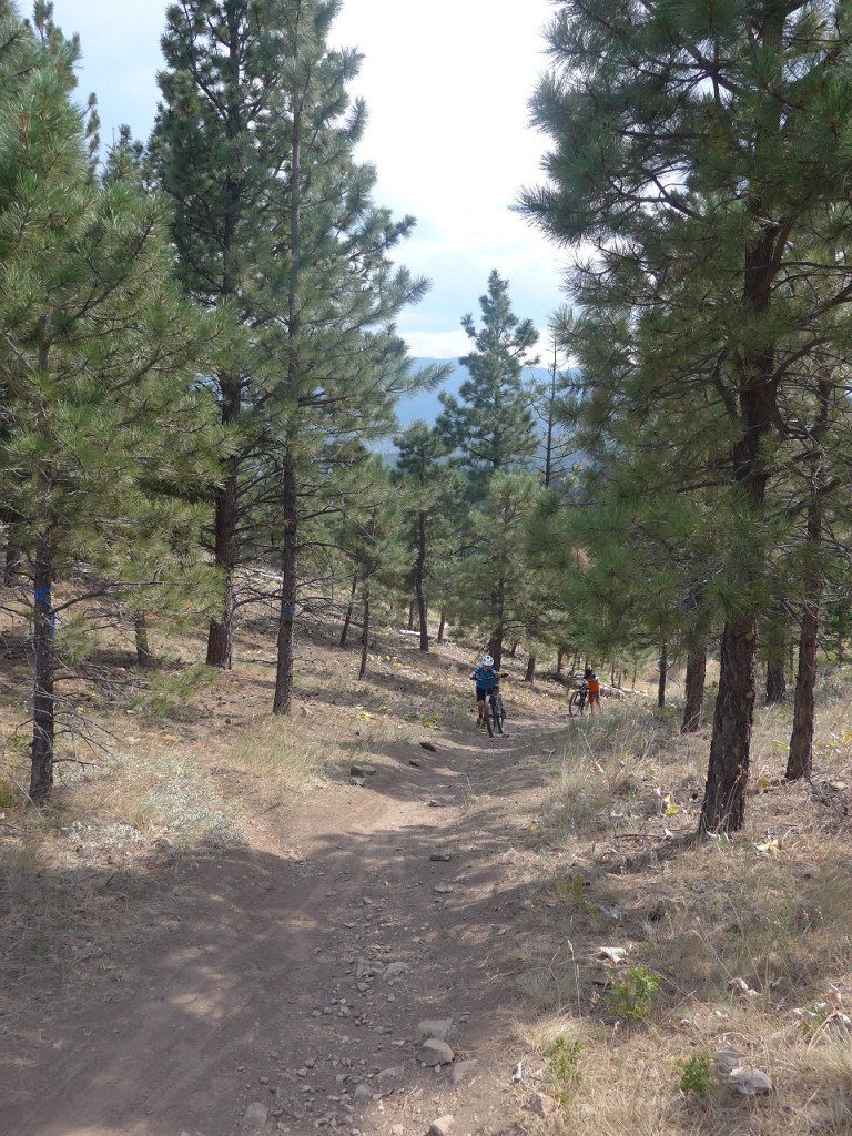 Uphill in Helena Montana