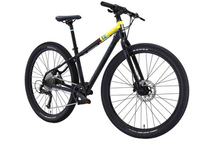 "best kids 26"" wheel hybrid bikes - Hoy Bonaly 26 in black and lime"