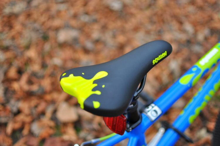 Squish Bikes Saddle - on the Squish 18 kids bike