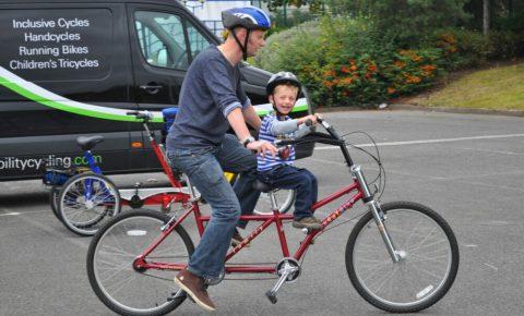 Bike Buddy - parent and child tandem bike