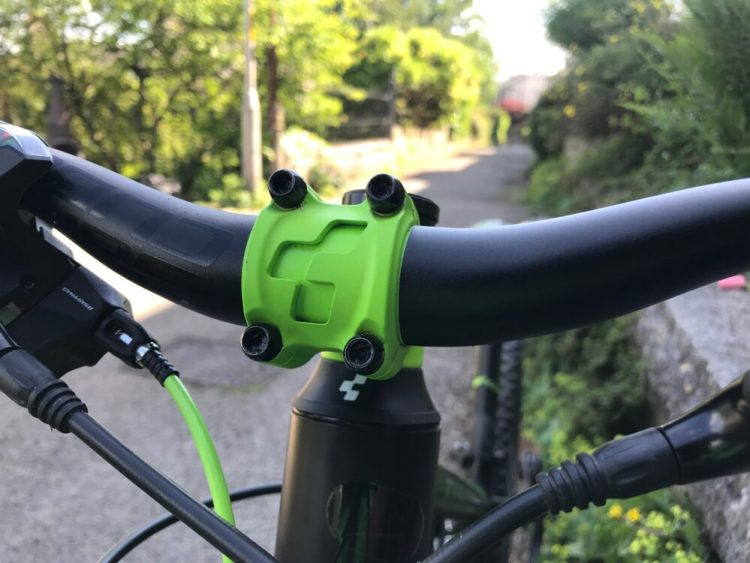 Cube Kid 240SL review - Cube brand stem