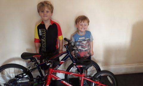 Nathan and Jacob and their Wiggins Bikes