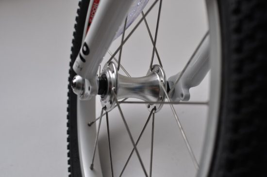 """Wheels on the 16"""" Woom3 kids bike"""