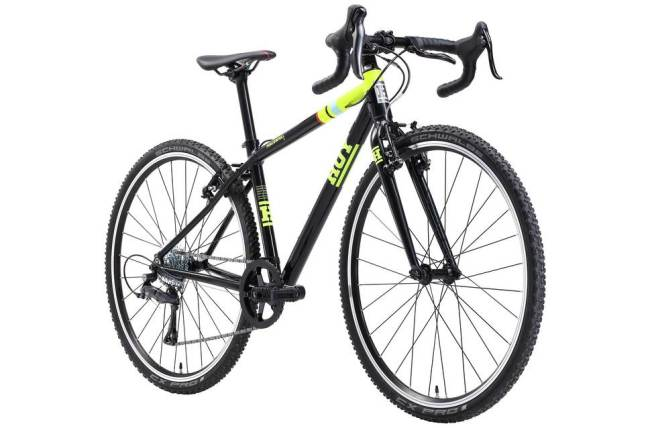 Hoy Meadowmill 26 inch wheel cyclocross bike in black and yellow