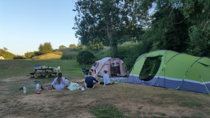 Camping with a cargo bike and young children - family bikepacking