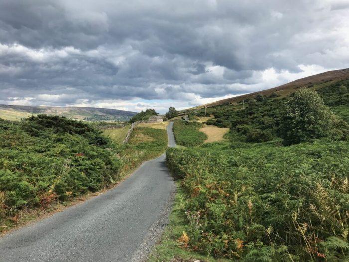 Swale Trail Road towards Reeth