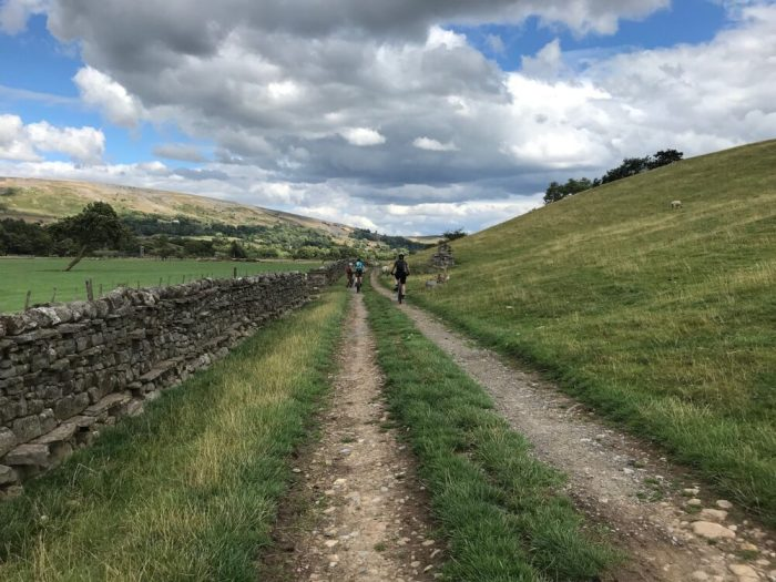 Swale Trail near Reeth on the flat bridleways suitable for younger kids