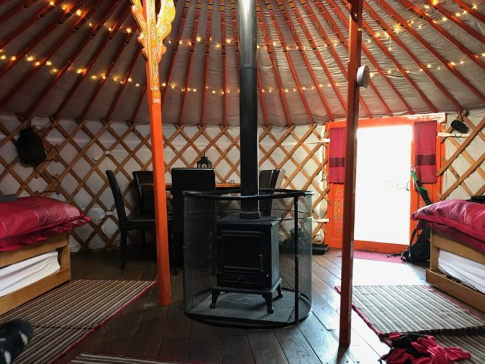 Swaledale Yurts - inside view