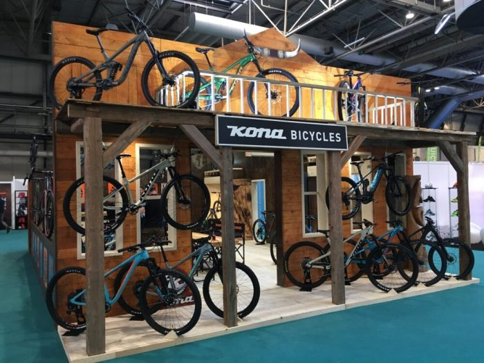 Kona house of bikes at the 2018 Cycle Show