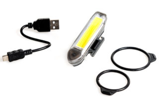 Alpkit Tau Bike lights suitable for use on a cargo bike