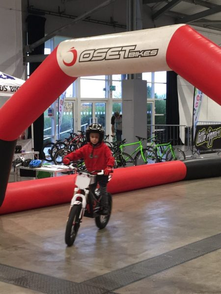 Electric kids bikes at the Yorkshire Cycle Expo 2018