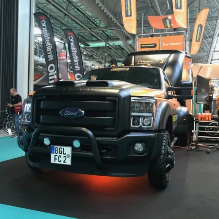 Huge truck at the Cycle Show at the NEC