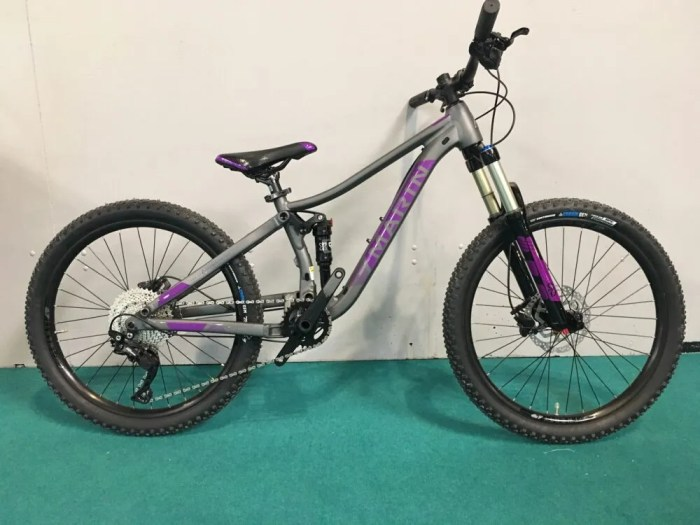 "Marin Hawk Hill JR 24"" wheel kids full suspension mountain bike"