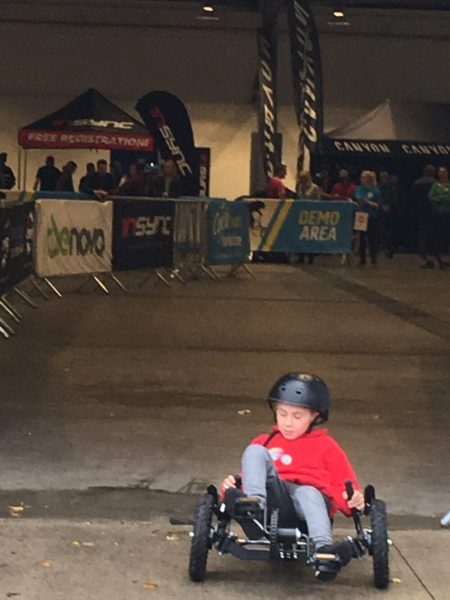 Recumbant Cycling at the Cycl Expo Yorkshire 2018 - review of taking kids to the event
