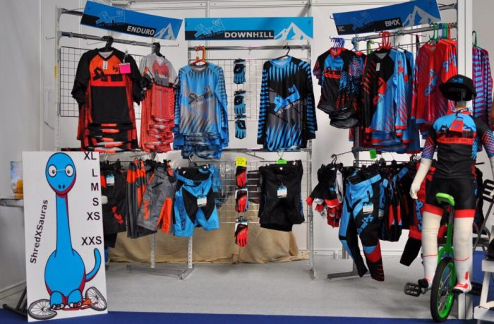 Shred XS kids mountain biking clothing at the Cycle Show