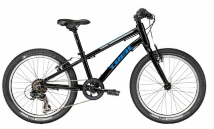 Trek Superfly kids MTB discounted in the sales is a very cheap and good value kids bike