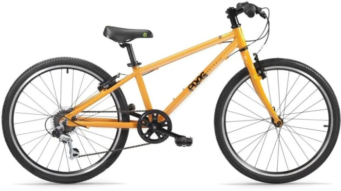"Frog 62 in Orange - one of the best kids bikes with a 24"" wheel for children aged 7 to 10 year old"