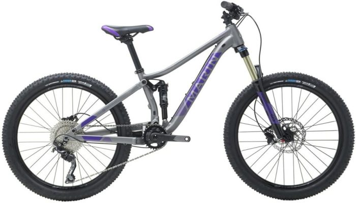 "Marin Hawk Hill Jr is one of the best 24"" wheel full suspension kids mountain bikes"