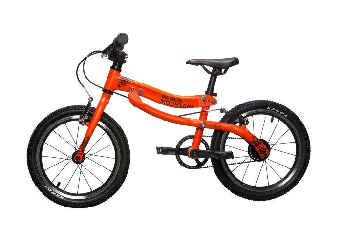Black Mountain Skog balance bike that grows into a pedal bike