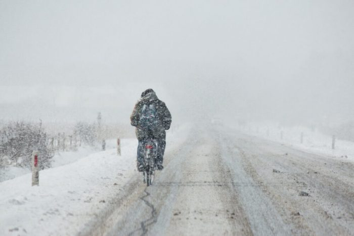 Cycling in the snow - Family Cycling Safety for Winter