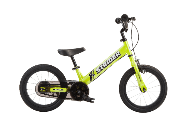 Strider 14X balance bike that becomes a pedal bike
