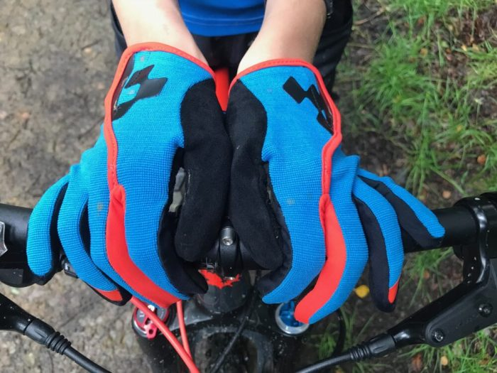 Cube junior performance long fingered kids cycling gloves