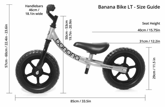 Banana Bike Size Guide