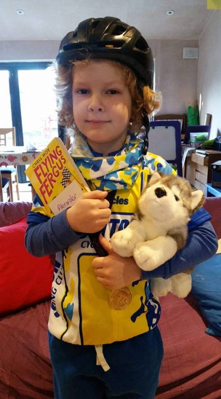 Flying Fergus WBD costume for Sutton Cycling Club - one of the easiest World Book Day costumes
