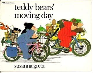 Teddy Bears Moving Day - a children's book featuring cycling
