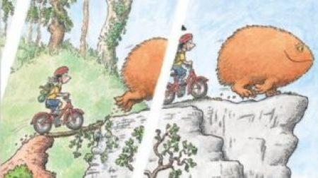 The Day Louis got eaten by John Fardell - a children's book that features cycling