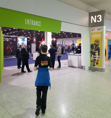 Arriving at the London Bike Show