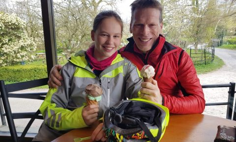 Hannah Killick and her dad - riding LEJOG in April
