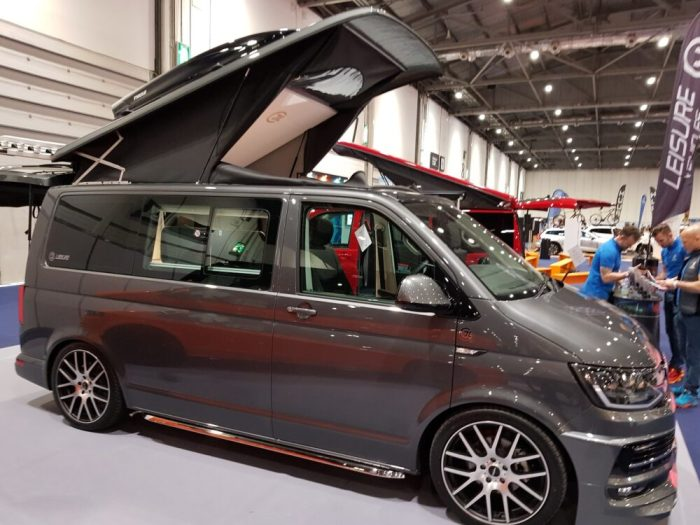 Luxury campervan fitted out for family cycling