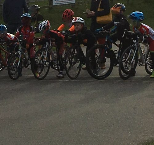 Spring in the Park kids cycle racing in Gravesend Kent