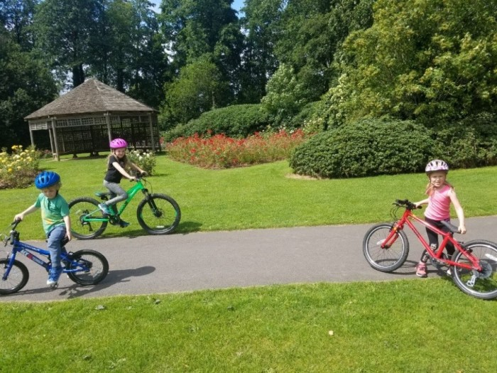 Family cycling in Ireland