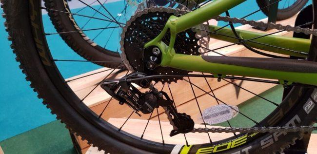 Rear mechanism on the Whyte 303 kids 24 inch mountain bike