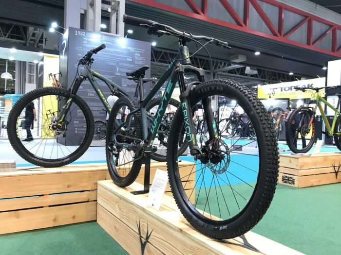 Whyte teenage mountain bikes on display at the 2019 Cycle Show