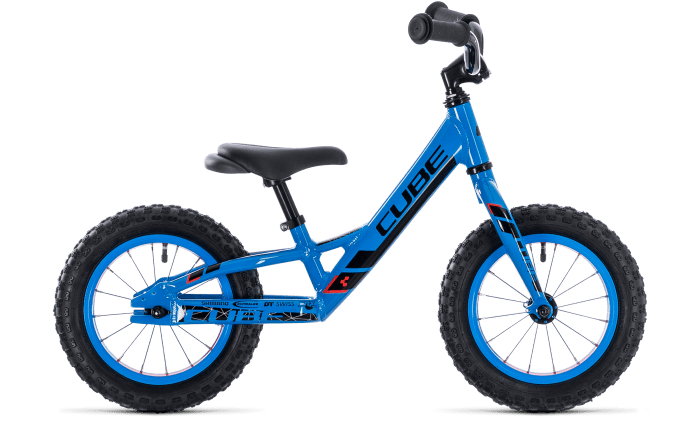 Cube Cubie 120 Walk balance bike in Action Team Blue