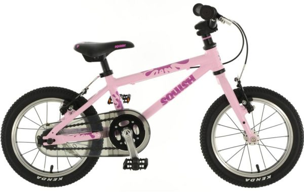"Pink Squish 14"" girls bike Christmas 2019"