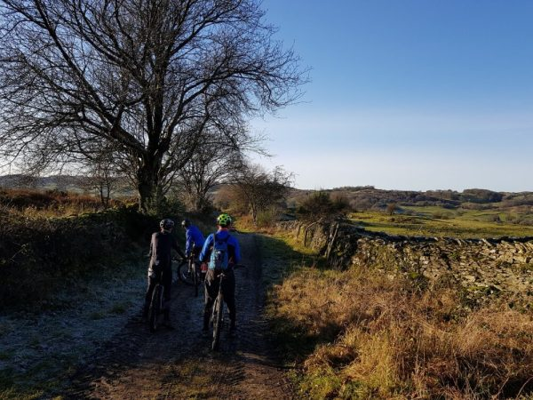 Winter Mountain Bike Ride with kids in Cumbria