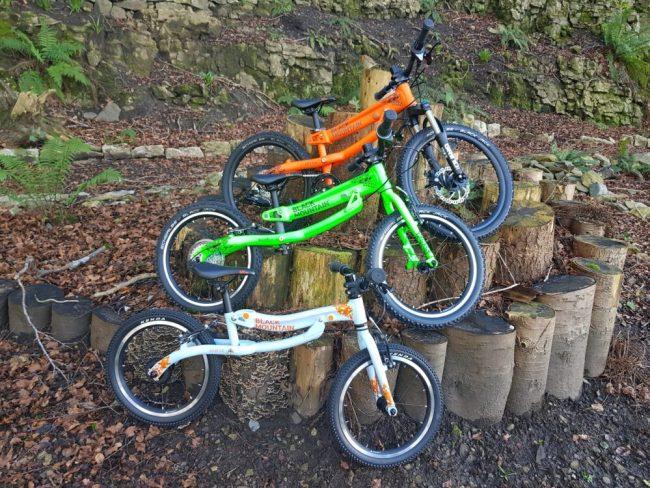 Black Mountain Skog, Hutto and Kapel 3 bikes together