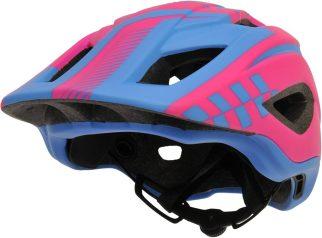 Kids full face pink cycle helmet