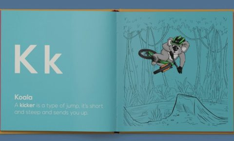 Limited edition A to Z animal alphabet mountain biking book