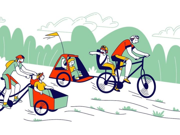 How to start cycling with your child in a trailer or bike seat