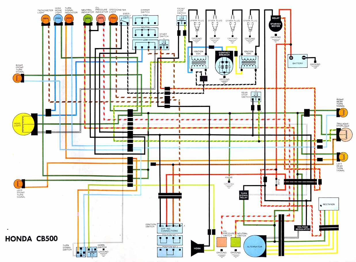 ... Honda CB500 Electrical wiring diagram?resize\=640%2C470 gl1000 wiring  diagram na50