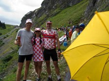 Polka Dots and Beer watching the Tour