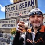 Col de l'Iseran bike only day - Grey Beard drinks beer