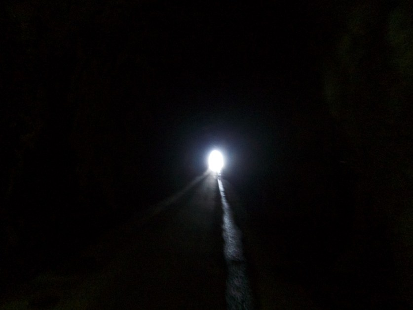 Dark with lights off