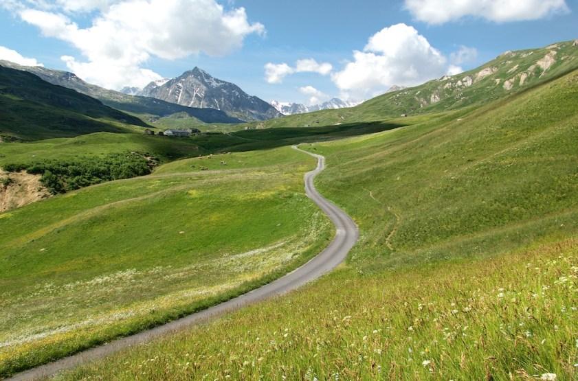 Road to Col du Petit Mont Cenis